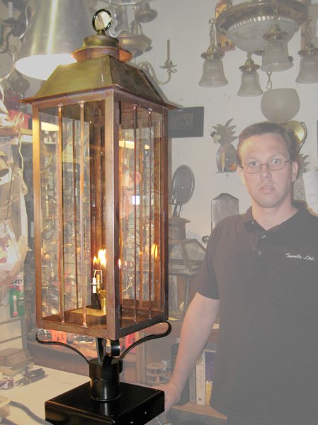 Brass Post Mount Lantern