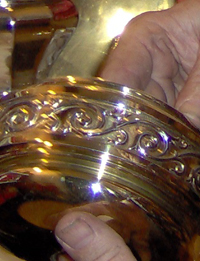 polishing brass